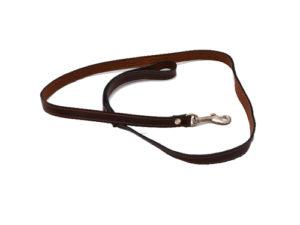 Lesa pentru caini, din piele, neagra - 15 cm/120 cm