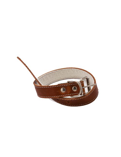Zgarda de piele pentru caini de talie mare - 60cm x 3cm