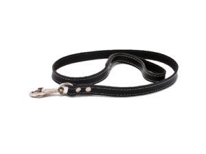 Lesa pentru caini, lata, neagra - 110 cm/2 cm