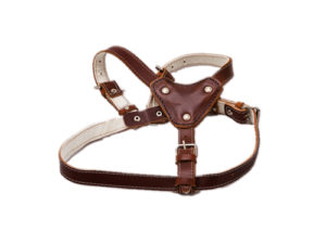 Ham pentru caini de talie medie, de piele, maroniu - 60-80cm / 2.5cm