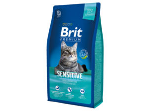 Mancare pentru pisici, BRIT Premium Cat Sensitive, 8 kg