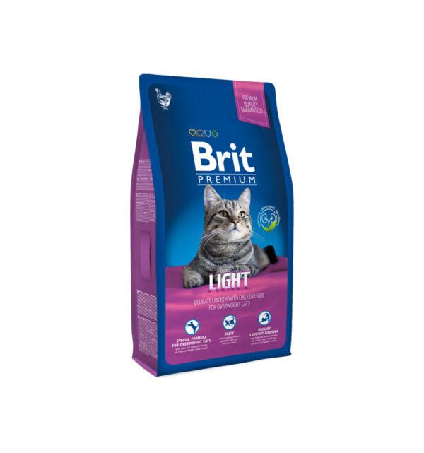 Hrana pentru pisici, Brit Premium Cat Light, 8 kg