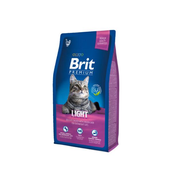 Mancare pentru pisici, Brit Premium Cat Light, 8 kg