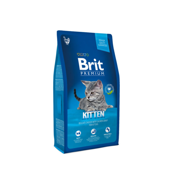 Hrana uscata pentru pisici Brit Premium, Kitten, 8 Kg