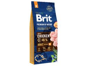 Mancare uscata pentru caini, Brit Premium By Nature, Adult M, 15 Kg