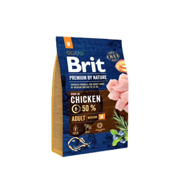 Mancare uscata pentru caini, Brit Premium By Nature, Adult M, 3 Kg