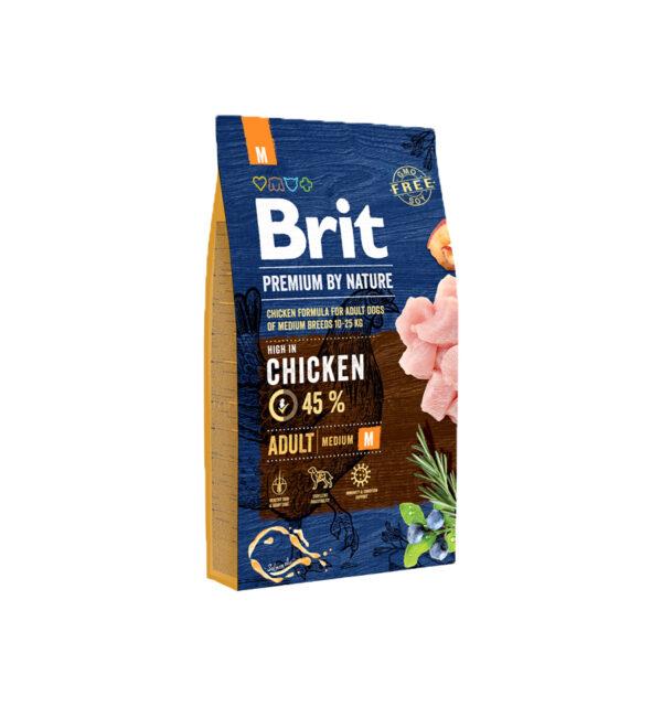 Mancare uscata pentru caini, Brit Premium By Nature, Adult M, 8 Kg