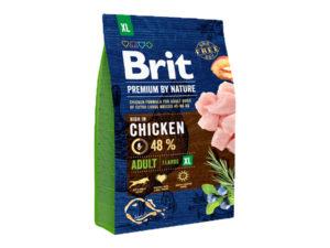 Mancare uscata pentru caini, Brit Premium By Nature, Adult XL, 3 Kg
