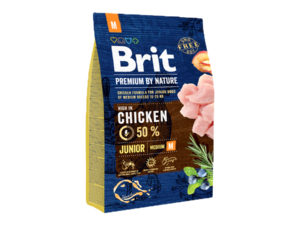 Mancare uscata pentru caini, Brit Premium By Nature, Junior M, 3 Kg