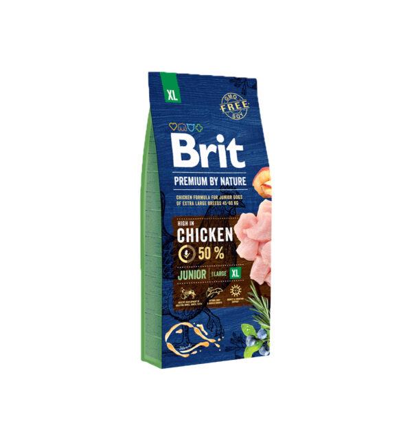 Mancare uscata pentru caini, Brit Premium By Nature, Junior XL, 15 Kg