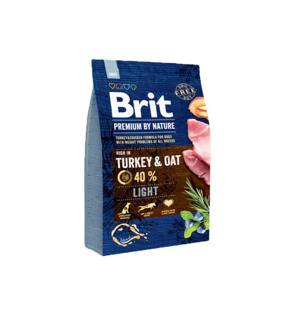 Mancare uscata pentru caini, Brit Premium By Nature, Light, 3 Kg