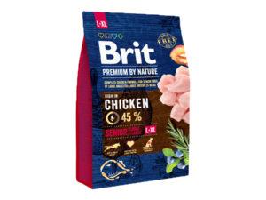 Mancare uscata pentru caini, Brit Premium By Nature, Senior L-XL, 3 Kg