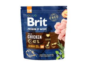 Mancare uscata pentru caini, Brit Premium By Nature, Senior S+M, 1 Kg