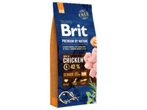 Mancare uscata pentru caini, Brit Premium By Nature, Senior S+M, 15 Kg
