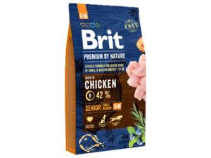 Mancare uscata pentru caini, Brit Premium By Nature, Senior S+M, 8 Kg