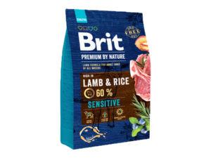 Mancare uscata pentru caini, Brit Premium By Nature, Sensitive, Miel, 3 Kg