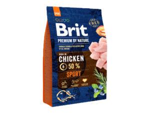 Mancare uscata pentru caini, Brit Premium By Nature, Sport, 3 Kg