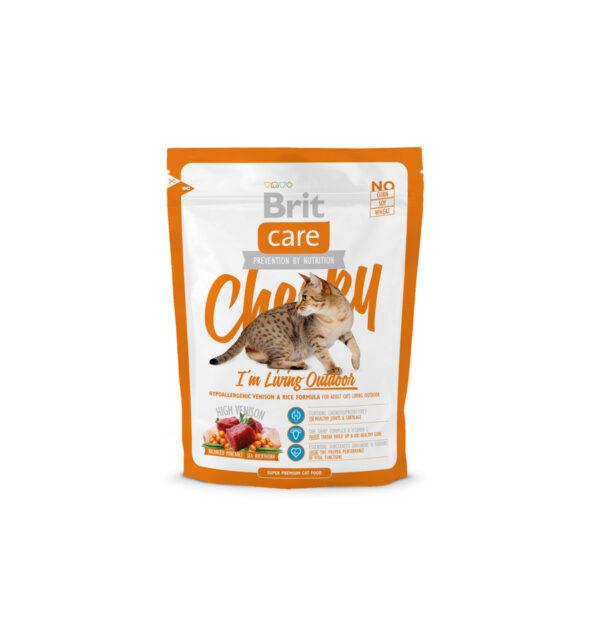 Mancare uscata pentru pisici Brit Care, Cheeky Living Outdoor, 400 g