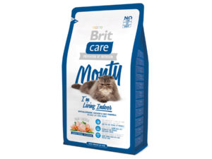 Mancare uscata pentru pisici Brit Care, Monty Living Indoor, 2 kg