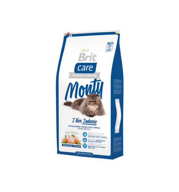 Mancare uscata pentru pisici Brit Care, Monty Living Indoor, 7 kg