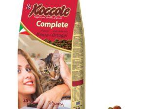 Hrana uscata pentru pisici le Koccole Complete cu vita si legume, 20kg