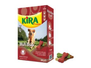 recompense pentru caini kira premium cu pui, vita si miel 500g