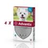 Set 4 pipete antiparazitare Advantix, pentru câini de la 4 kg până la 10 kg