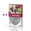 Set 4 pipete antiparazitare Advantix, pentru câini de la 10 kg până la 25 kg