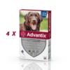 Set 4 pipete antiparazitare Advantix, pentru câini de la 25 kg până la 40 kg